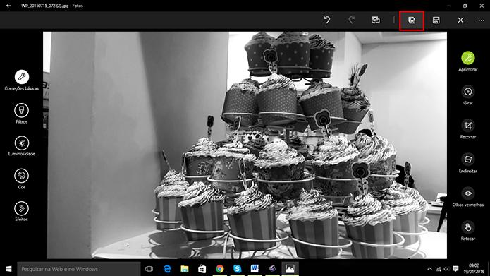 Fotos do Windows 10 permite que usuário preserve a imagem original (Foto: Reprodução/Elson de Souza)