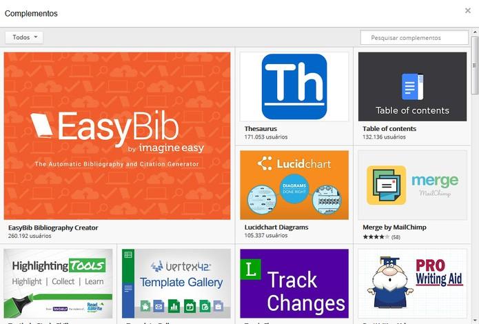 Inclua complementos nos seus arquivos e melhore sua experiência com o Google Docs (Foto: Reprodução/Carol Danelli)