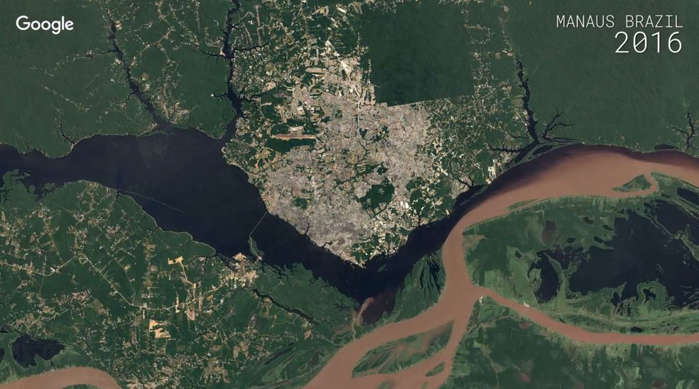 Mancha urbana em Manaus é um dos destaques (Foto: Google)