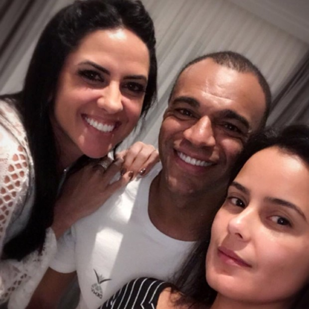 Graciele Lacerda, Denílson e Luciele Camargo (Foto: Reprodução/Instagram)