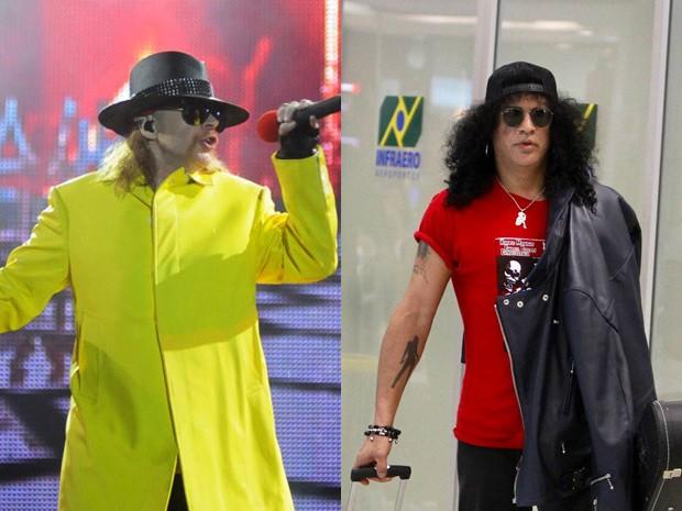 Axl Rose e Slash (Foto: Ag. News)