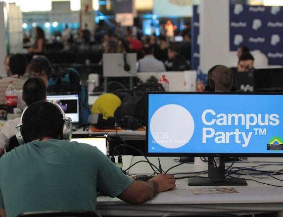 O futuro das profissões é um dos assuntos abordados nesta sexta-feira (29) na 9ª edição da Campus Party. A feira de tecnologia acontece no Pavilhão de Exposições do Anhembi, em São Paulo, e vai até o dia 31 de janeiro (Foto: Marcio Ribeiro/Brazil Photo Press/Ag O Globo)