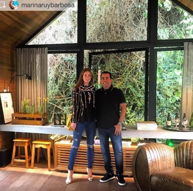 Marina e o arquiteto Duda Porto (Foto: Reprodução/Instagram)