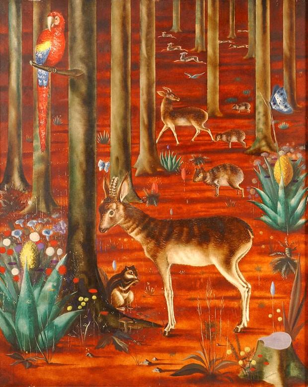 A Floresta, de Cândido Portinari, óleo sobre tela (Foto: Foto: Rômulo Fialdini)