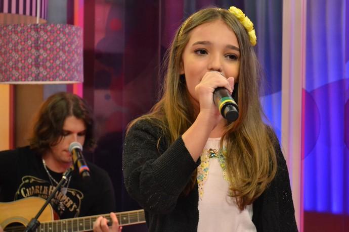 Mistura com Rodaika Luiza Haggsträm The Voice Kids Brasil (Foto: Maicon Hinrichsen/RBS TV)