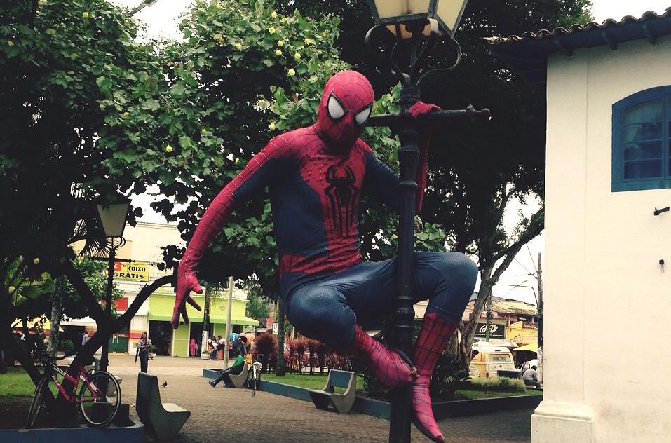 Homem Aranha de Itanhaém (Foto: Arquivo Pessoal)