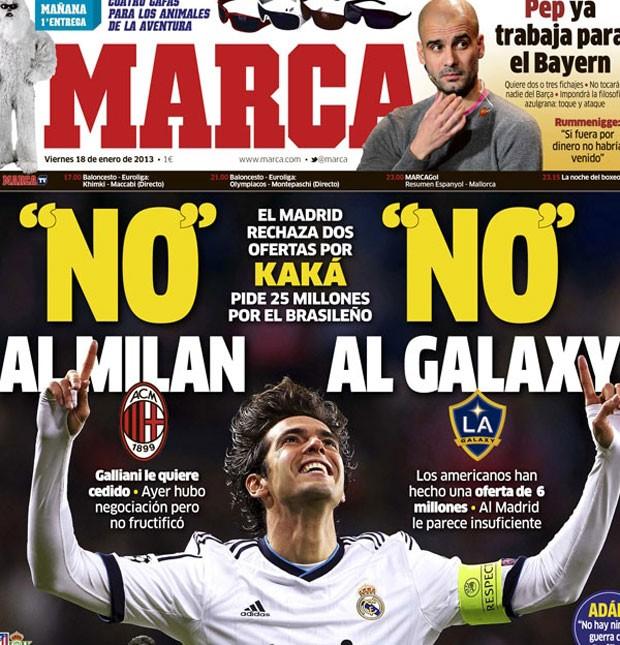 Kaká capa Marca reprodução (Foto: Reprodução / Marca.com)