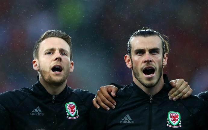 Chris Gunter e Bale País de Gales (Foto: Getty Images)