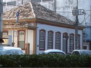 casarão Oliveira MG casarões tombados (Foto: Reprodução/TV Integração)