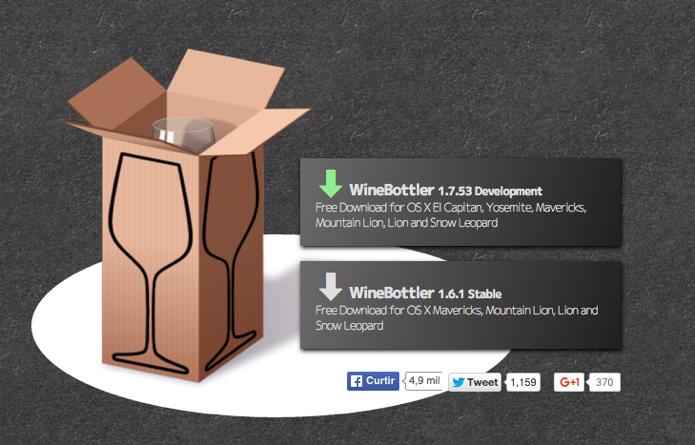 Instale a versão do WineBottler compatível com seu sistema (Foto: Reprodução/Paulo Alves)