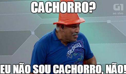 Canuto relembrou uma entrevista que fez e acabou virando meme na internet. Ele perguntou a um garoto: 'o que você achou?', e recebeu como resposta a frase sobre 'cachorro'. (Foto: G1)