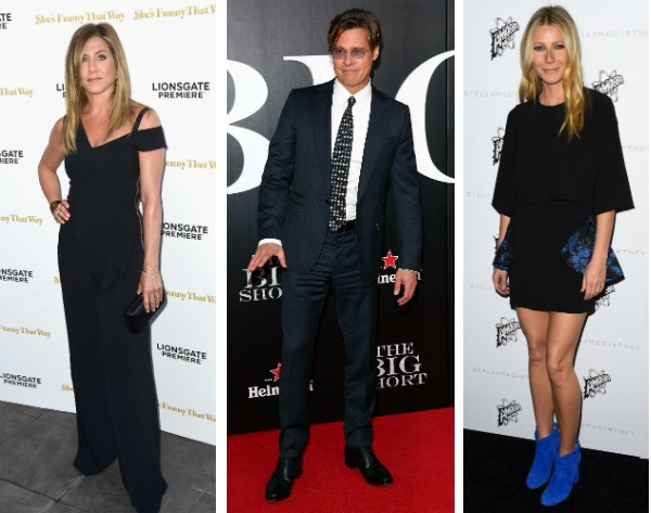 Jennifer Aniston, Brad Pitt e Gwyneth Paltrow (Foto: Getty Images)