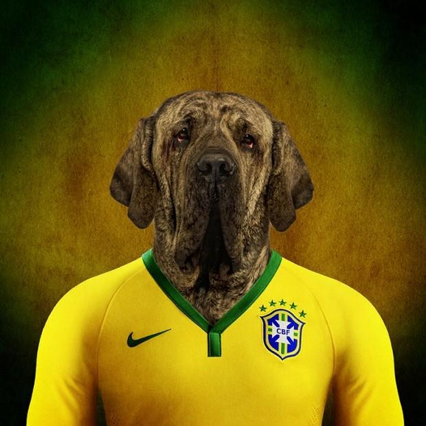 O Fila Brasileiro como representante da nação (Foto: Reprodução Life On White)