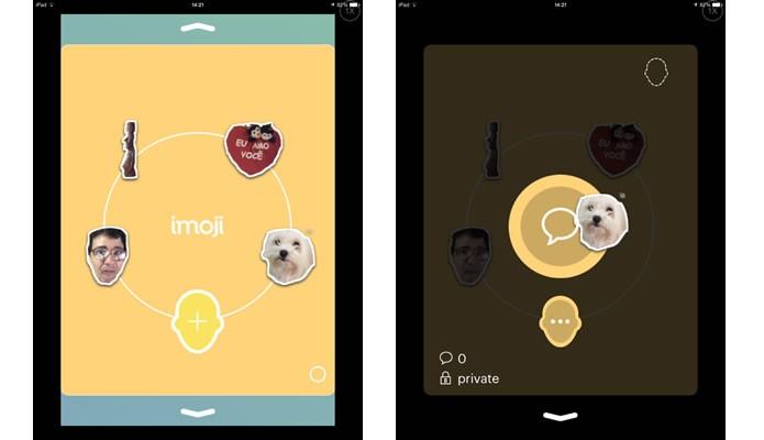 Arraste os emojis em sua conta para enviá-los por MMS (Foto: Reprodução/Daniel Ribeiro)