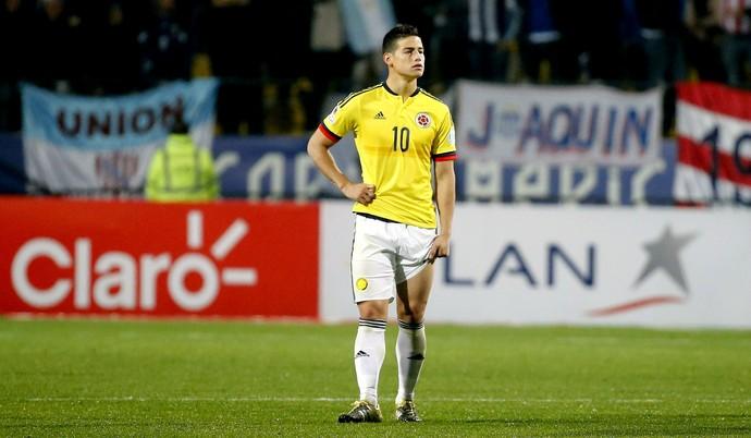 James Rodríguez Colômbia Argentina (Foto: AP)