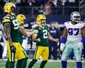 Rodgers comanda, Green Bay segura o Dallas, acerta chute no fim e avança