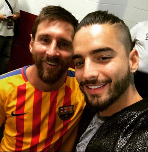 Messi e Maluma (Foto: Reprodução)