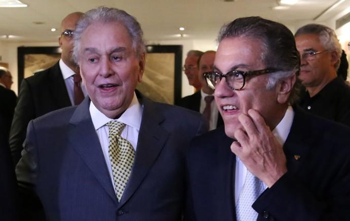 Juvenal Juvêncio e Carlos Miguel Aidar votação São Paulo (Foto: Alex Falcão / Ag. Estado)