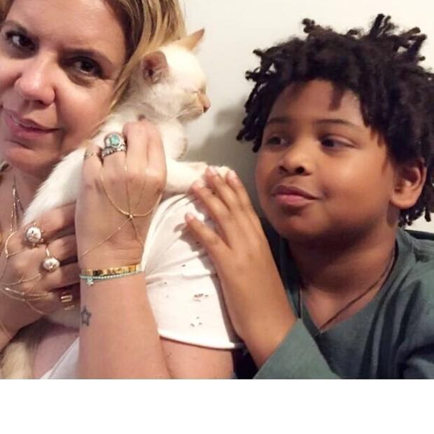 Astrid Fontenelle e o filho Gabriel (Foto: Reprodução/Instagram)