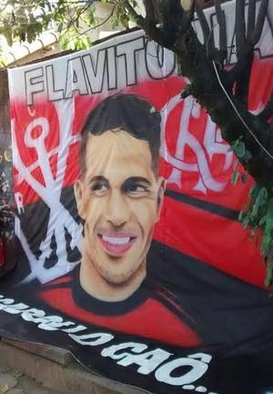 Guerrero Bandeira Flamengo (Foto: Divulgação)