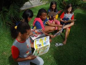 Projeto 'Leitura na Praça' em Porto Velho (Foto: Prefeitura de Porto Velho/Divulgação)