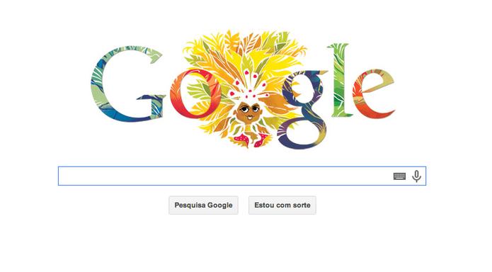 Carnaval no Doodle do Google (Foto: Reprodução/Google)