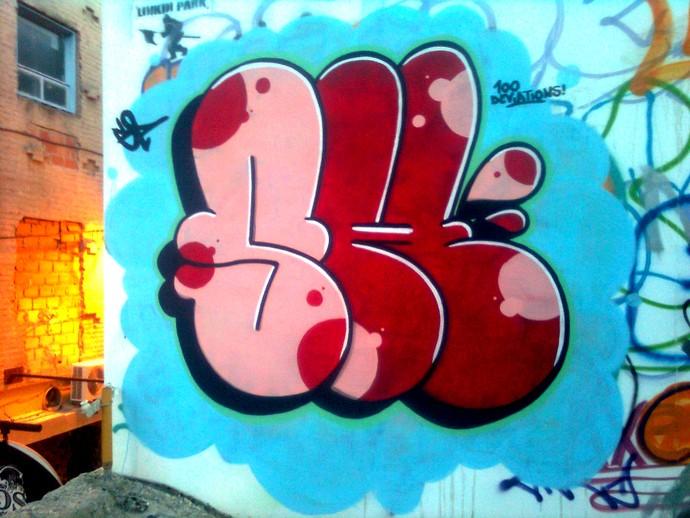 Graffiti no estilo Thrown Up (Foto: Reprodução Internet)
