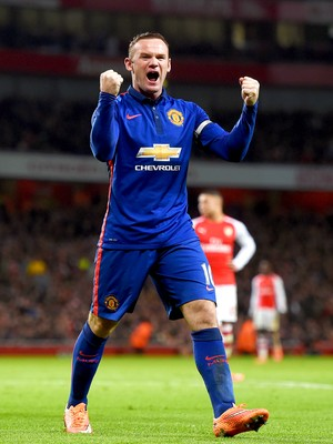 Arsenal x Manchester United - Rooney (Foto: Getty Images)