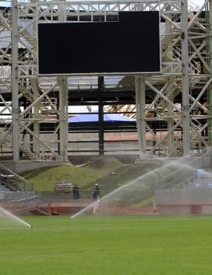 Telão instalado na Arena Pantanal (Foto: Edson Rodrigues/Secopa-MT)