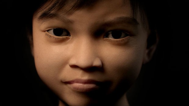 Rosto de Sweetie, usada para atrair supostos pedófilos (Foto: AFP)