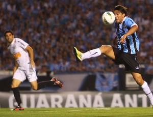 Marcelo Moreno na partida do Grêmio contra o Santos (Foto: Lucas Uebel / Site Oficial do Grêmio)