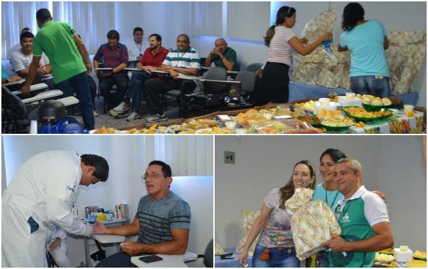 Pais da Rede amazônica no AP ganharam café especial, atendimento de saúde e presentes (Foto: Jessica Alves/Rede Amazônica)
