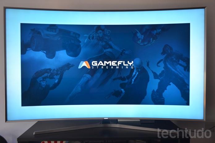 Gamefly é o serviço de jogos por streaming disponível em TVs Samsung com Tizen (Foto: Melissa Cruz / TechTudo)