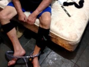 Empresário de Capivari foi encontrado acorrentado em cativeiro (Foto: Reprodução/EPTV)