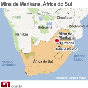 mapa mina africa do sul (Foto: 1)