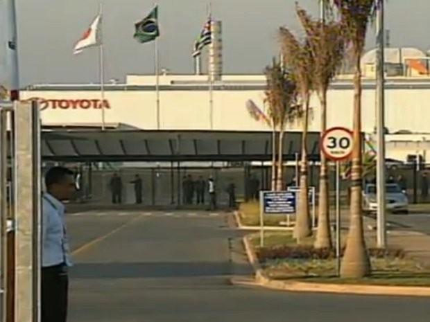 Toyota do Brasil inaugura fábrica em Sorocaba, SP (Foto: Reprodução TV Tem)