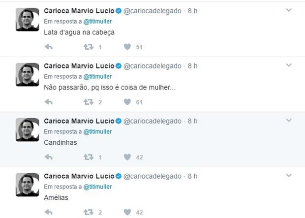 Danilo Gentilli, Carioca e Rachel Sheherazade fazem comentários machistas (Foto: Reprodução/Twitter)