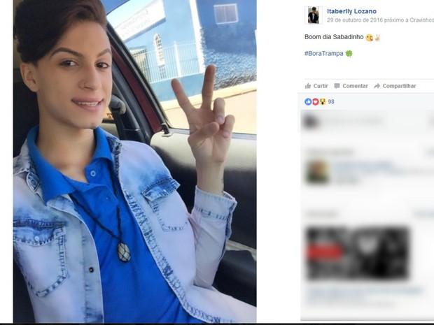 Itaberli Lozano foi encontrado morto em canavial na Rodovia José Fregonezi (Foto: Reprodução/Facebook)