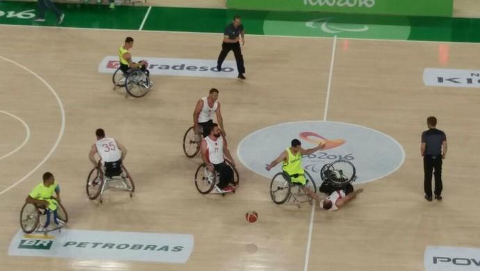 Brasil x Turquia basquete cadeira de rodas Rio 2016 (Foto: Gabriele Lomba)