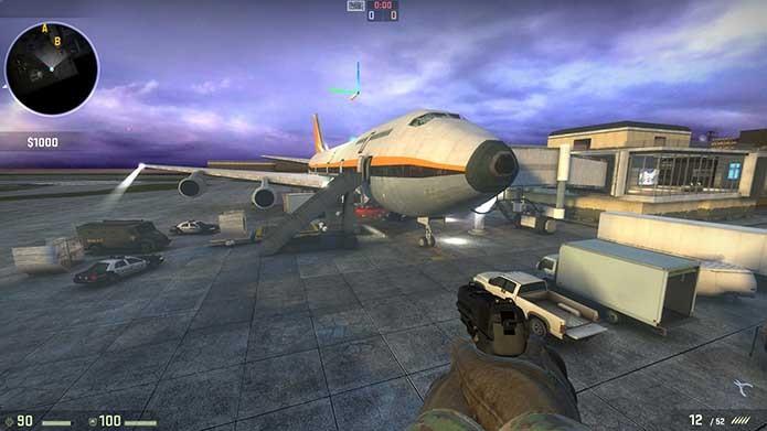 Mapa com imponente avião está em CS:GO (Foto: Divulgação/Steam)