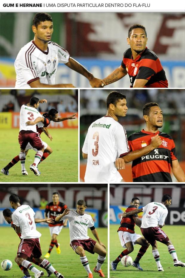 Mosaico Gum e Hernane Flamengo x Fluminense (Foto: André Durão / Globoesporte.com)