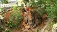 Prefeitura adia retirada de pedra que caiu sobre trilhos em Cobi de Baixo