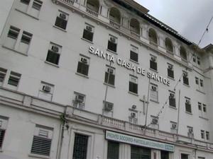 Santa Casa de Santos, no litoral de São Paulo (Foto: Reprodução / TV Tribuna)