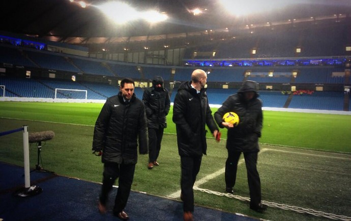 Manchester City x Sunderland adiado tempestade (Foto: Reprodução/Twitter)
