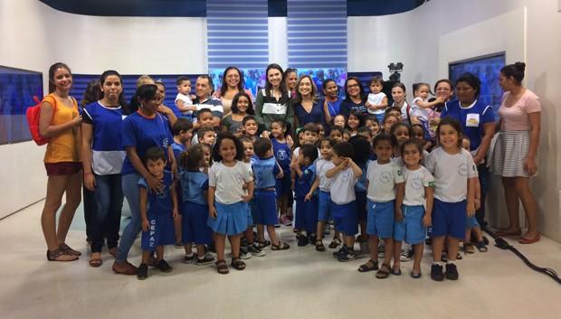 'Amigos da TV Clube' recebe alunos da Creche Escola Príncipe da Paz (Foto: Andressa Sipaúba/TV Clube)