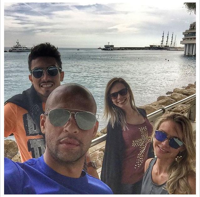 BLOG: Felipe Melo aproveita folga com esposa e brasileiro do Internazionale em Mônaco