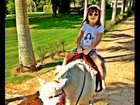 Rafa Justus anda de pônei e Ticiane Pinheiro posta foto: 'Minha princesa'