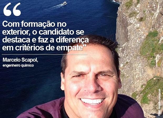 Marcelo Roberto Scapol está em Dublin há 15 dias para melhorar o inglês, fazer cursos de aperfeiçoamento e intercâmbio profissional (Foto: Arquivo pessoal)
