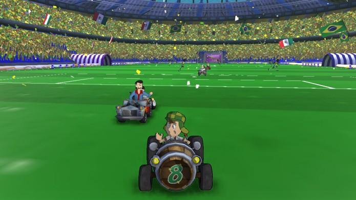 Chaves Kart leva o famoso personagem até o Maracanã (Foto: Divulgação)