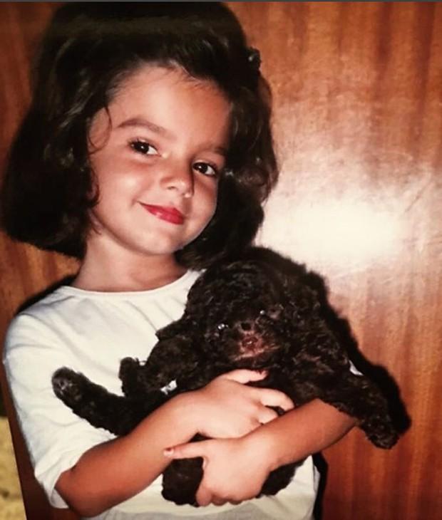 Giovanna Lancellotti quando criança (Foto: Reprodução/Instagram)